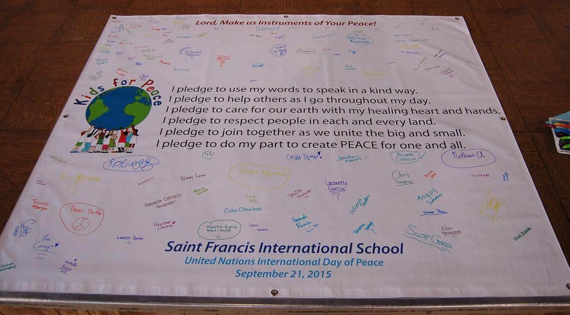 peace pledge for students