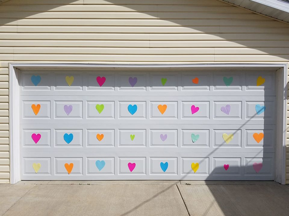 Happy Heart Hunt Garage Door