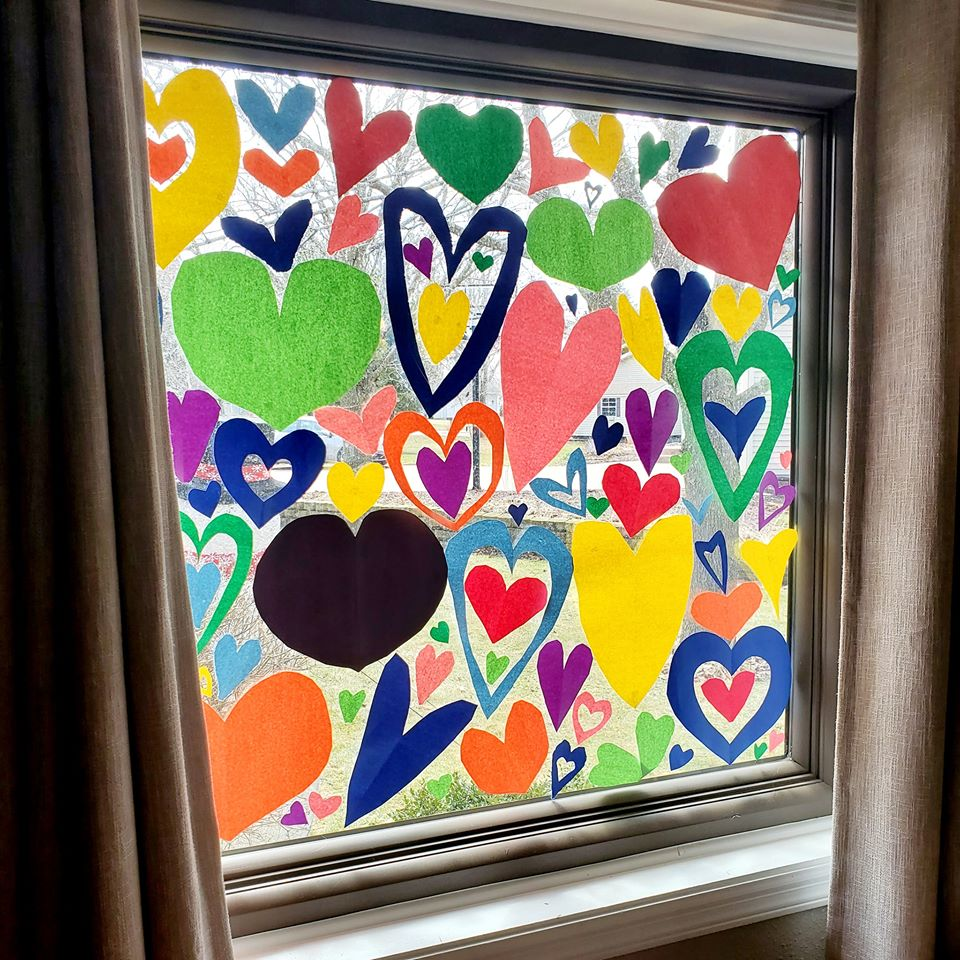Happy Heart Hunt Stained Glass Effect